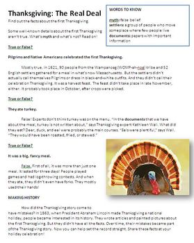 Thanksgiving  and the Journey of the Mayflower - A Brief History