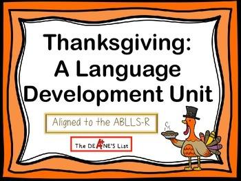 Thanksgiving: A Language Development  Unit
