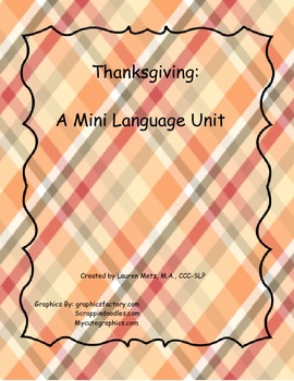 Thanksgiving: A Mini Language Unit