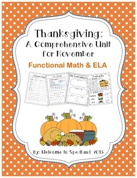 Thanksgiving: A Monthly Unit for November with Functional