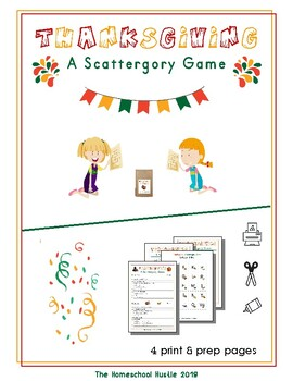 Thanksgiving: A Scattegory Game