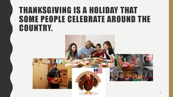 Thanksgiving- A Social Story with REAL pictures