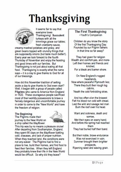 Thanksgiving - A Thematic Unit