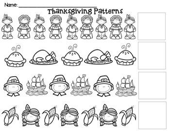 Thanksgiving AB Patterns