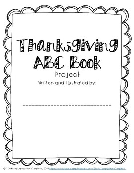 Thanksgiving ABC Book Research Project
