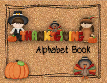 Thanksgiving ABC Book or Display