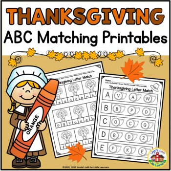 Thanksgiving ABC Matching Printables