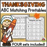Thanksgiving ABC Matching Printables
