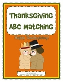 Thanksgiving ABC Matching - Uppercase and Lowercase