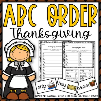 Thanksgiving ABC Order