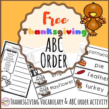 Thanksgiving ABC Order