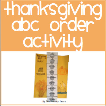 Thanksgiving ABC Order Activity