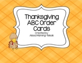 Thanksgiving ABC Order Cards