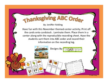 Thanksgiving ABC Order Center