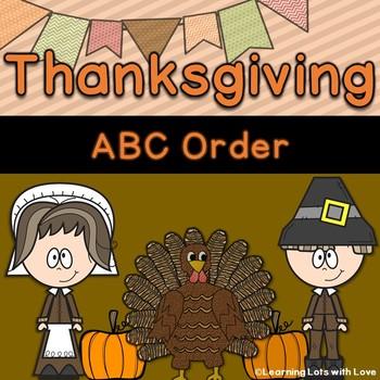 Thanksgiving ABC Order Freebie!