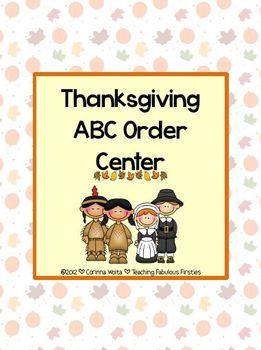 Thanksgiving ABC Order Freebie