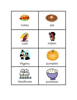 Thanksgiving ABC Order Pocket Chart