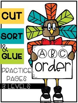 Thanksgiving ABC Order Sorts (3 Levels)