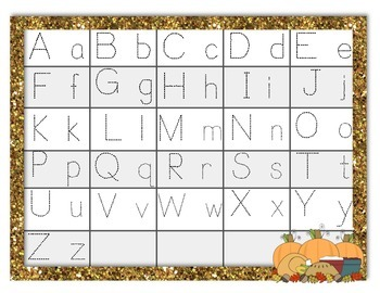 Thanksgiving ABC Order and Tracing
