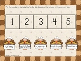 Thanksgiving ABC Order for Interactive Whiteboard