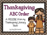 Thanksgiving ABC Order freebie