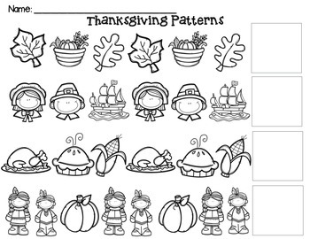 Thanksgiving ABC Patterns