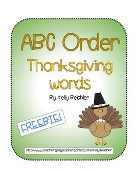 Thanksgiving, ABC order