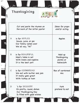 Thanksgiving ABC play