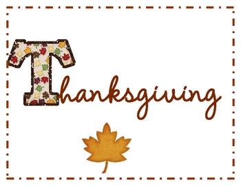 Thanksgiving ABCS