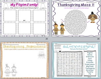 Thanksgiving AND Christmas Activity BUNDLE!
