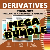Thanksgiving AP Calculus: Derivatives BUNDLE Pixel Art