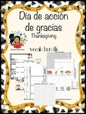 Thanksgiving Acción de gracias - Vocab Bundle and Literacy