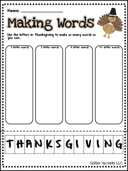 Thanksgiving Across the Curriculum