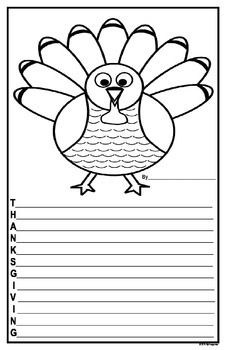 Thanksgiving Acrostic Draft and Good Copy Pages