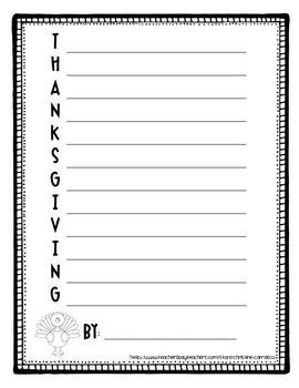 Thanksgiving Acrostic Poem FREEBIE