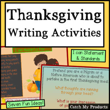 Thanksgiving Writing Activities Powerpoint