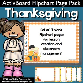 Thanksgiving ActivBoard Flipchart Page Pack