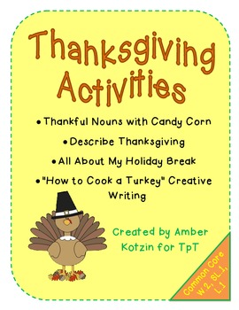 Thanksgiving Activities (Common Core Aligned)