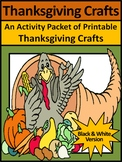 Thanksgiving Decorations & Decor: Thanksgiving Crafts Activities Packet