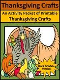 Thanksgiving Decorations & Decor: Thanksgiving Crafts Activities - BW Version