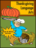 Thanksgiving Worksheet Activities: Thanksgiving Language Arts