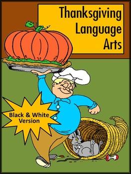 Thanksgiving Worksheet Activities: Thanksgiving Language Arts