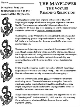 Thanksgiving History Activities: The Mayflower Activity Packet - B/W Version
