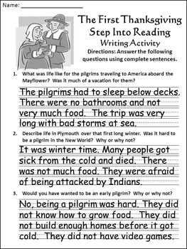 Thanksgiving Reading Activities: The First Thanksgiving Activity Packet