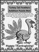 Thanksgiving Math Activities: Turkey Tail Feathers Additio