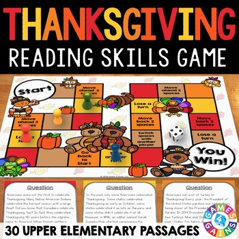 Thanksgiving Activity: Thanksgiving Reading Game