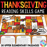 Thanksgiving Reading Comprehensions Passages and Questions Game