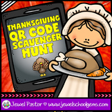 Thanksgiving Activities (Thanksgiving QR Codes Scavenger Hunt)