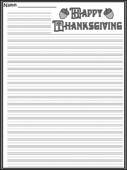 Thanksgiving Language Arts Activities: Thanksgiving Writing Prompts Activities