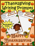 Thanksgiving Language Arts Activities: Thanksgiving Writing Prompts Activity -BW